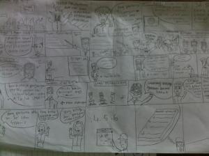 konsep komik dibuat oleh siswa kelas IX SBI 2 SMPN 5 Yogyakarta
